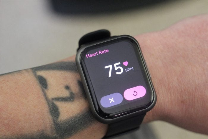 Heart rate data on the Wyze Watch 47