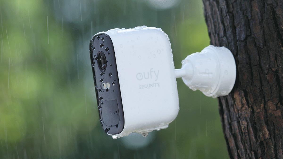 A photo of Eufy's outdoor smart camera.