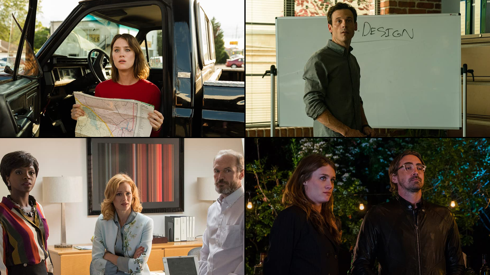 Shots from the later seasons of the show, featuring the four main characters.