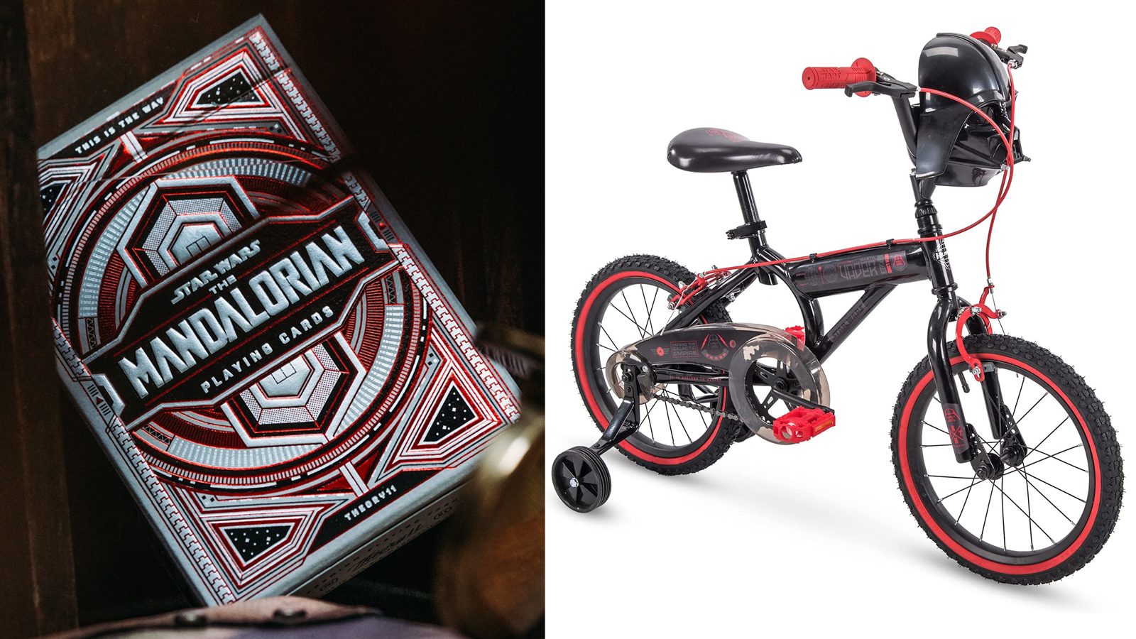 Theory11 themed playing cards, Huffy Darth Vader bike