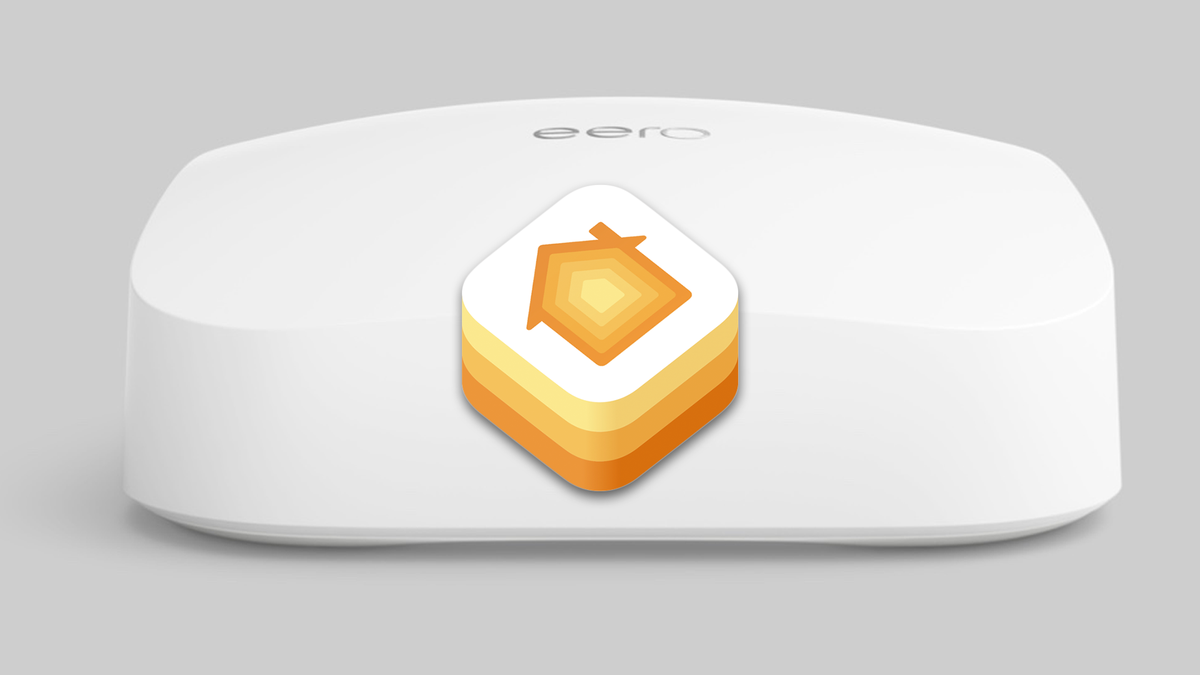 The Eero 6 router with a HomeKit logo.