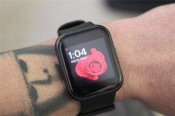 The Watch face on the 44