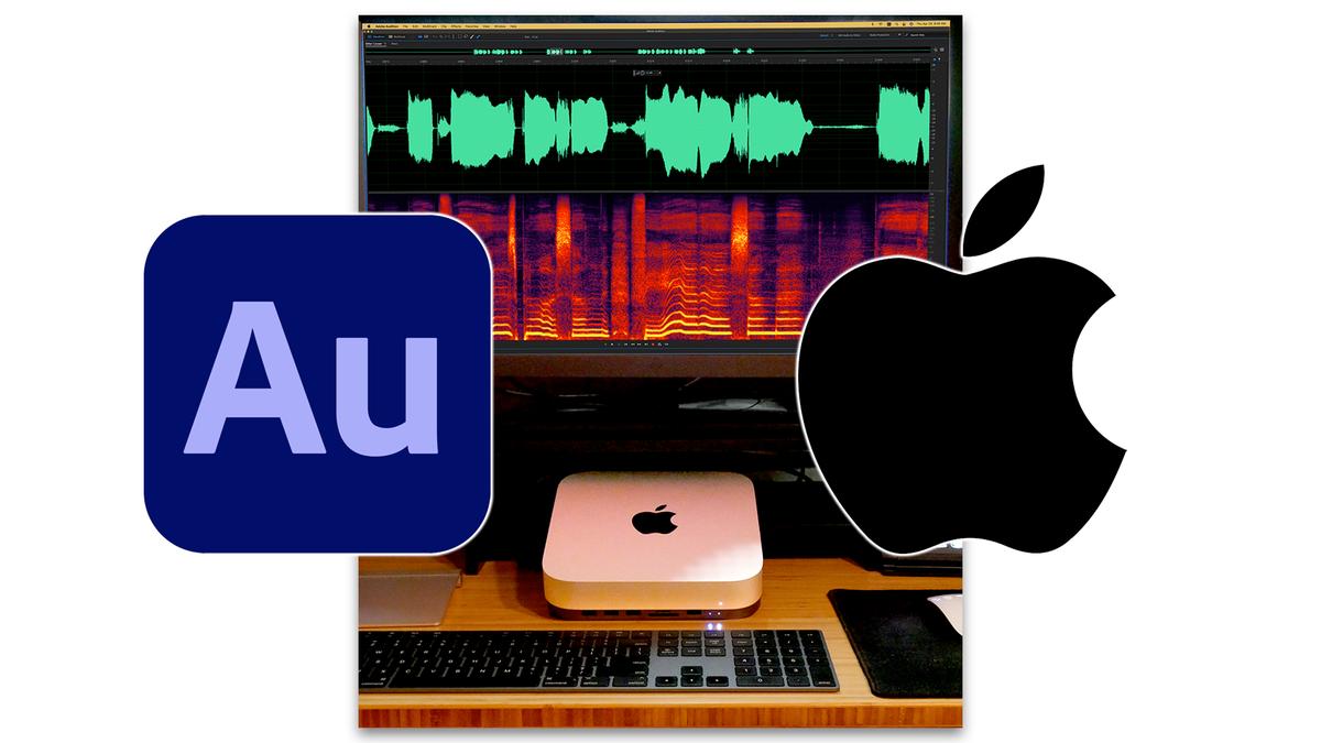 Adobe Audition running on an M1 Mac Mini.