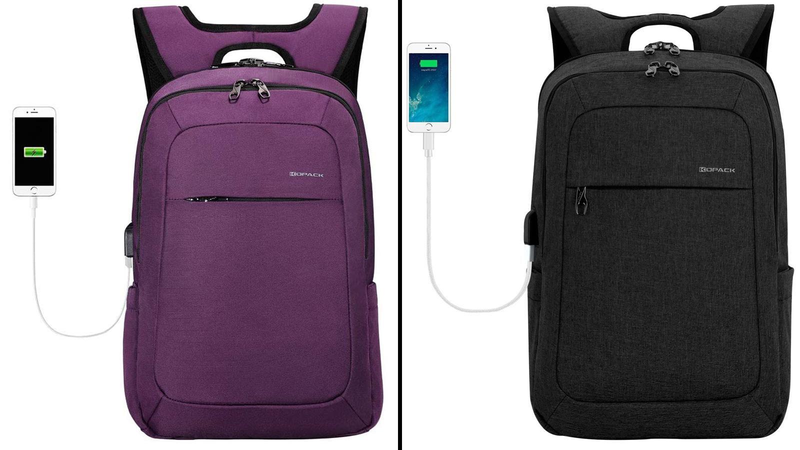 KOPACK Slim Commuter Anti-Theft Laptop Backpack