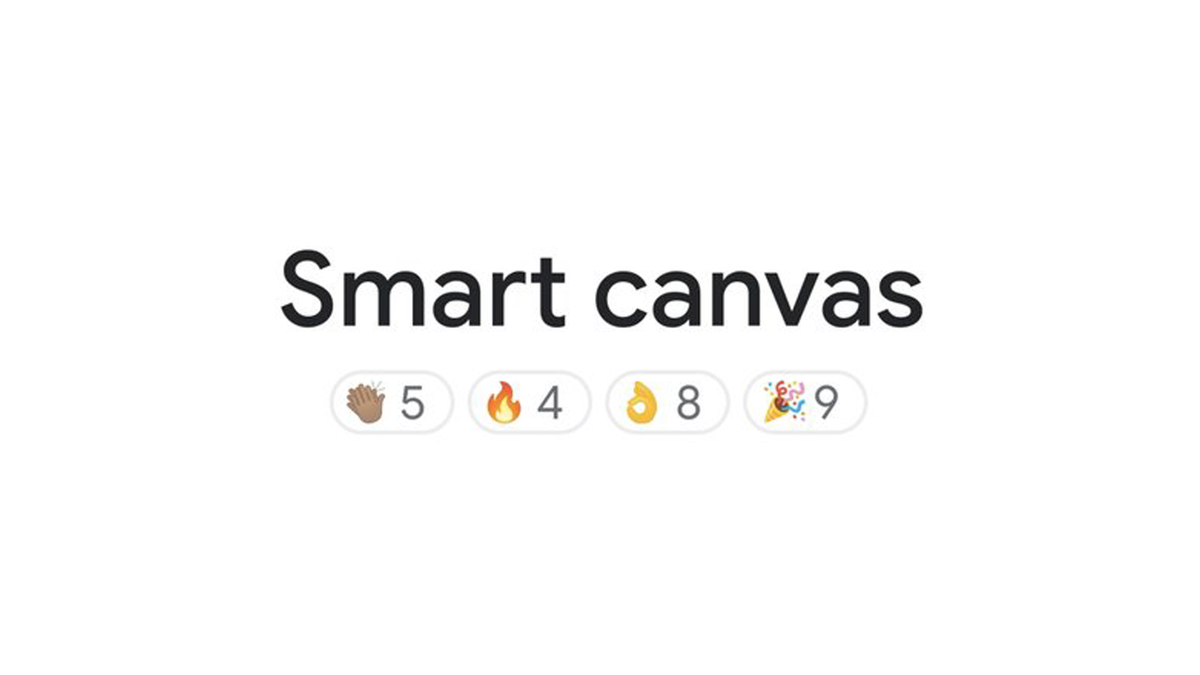 Smart Canvas logo with emoji reactions