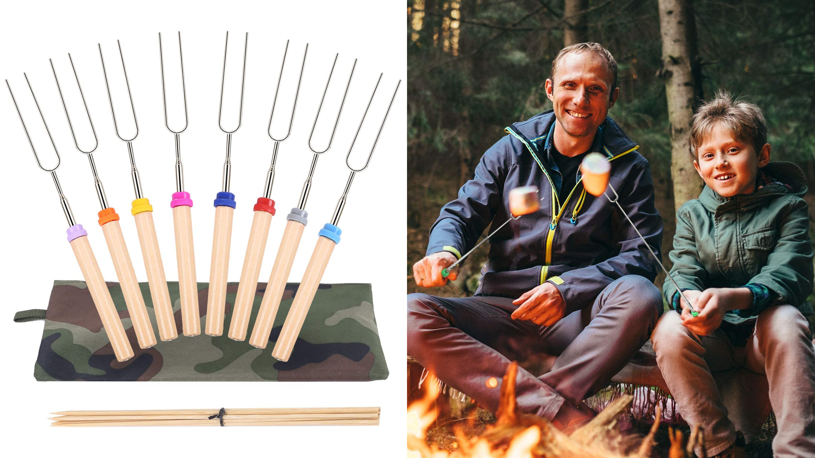 These Colorful Marshmallow Roasting Sticks Are a Must-Have Camping Accessory