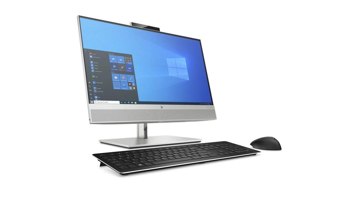 HP EliteDesk 800 G8 на белом фоне