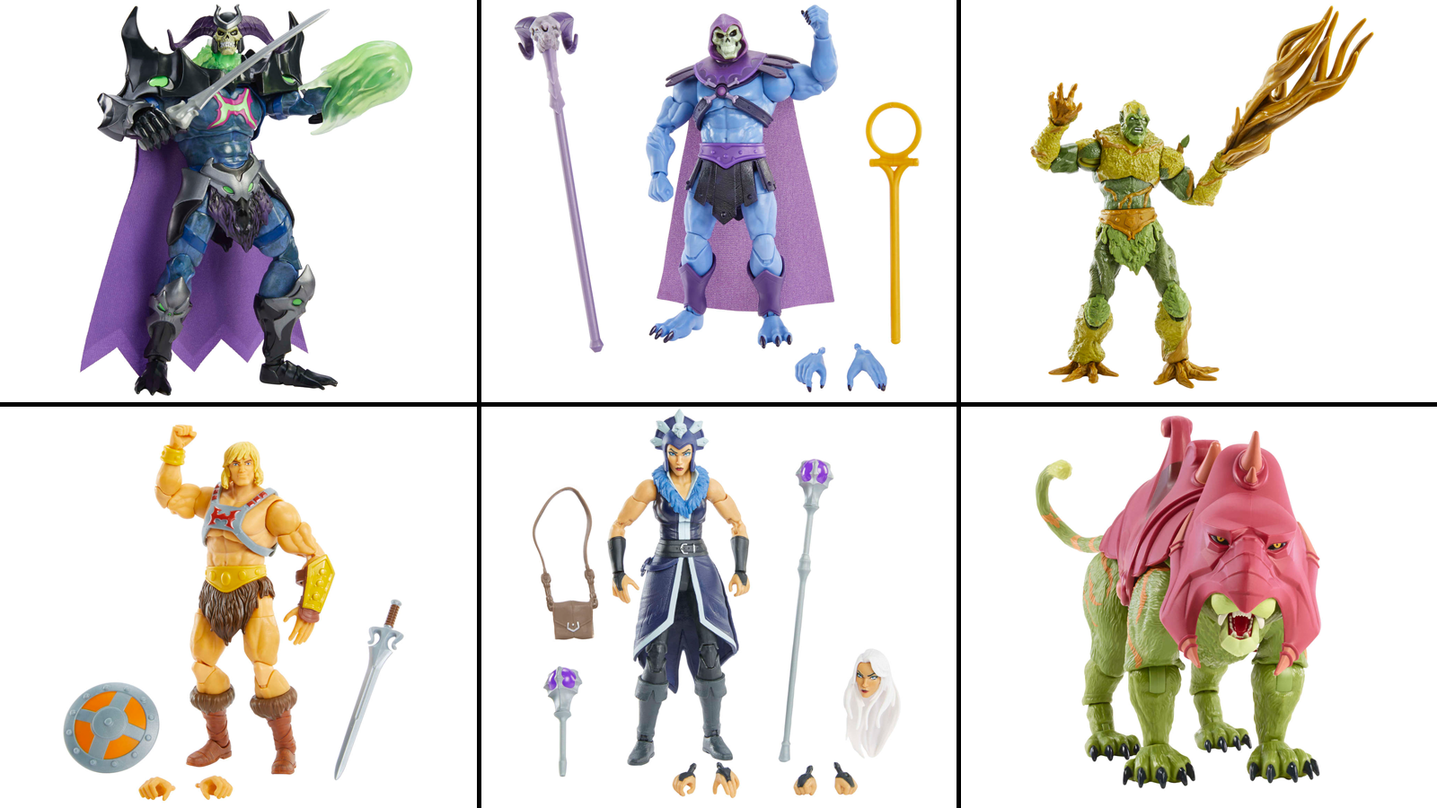 """Upcoming action figures from """"Masters of the Universe: Revelation"""""""