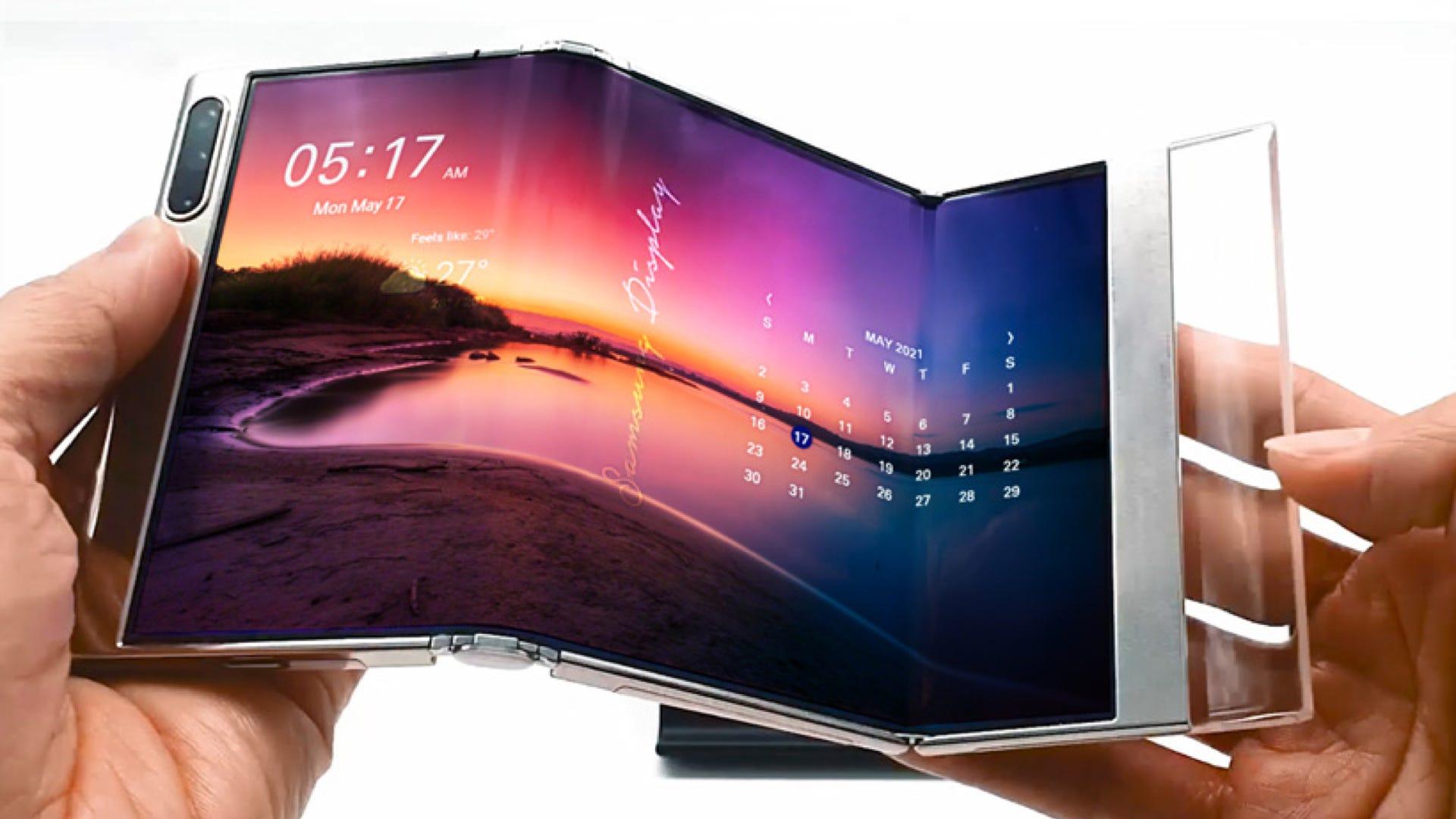 "Samsung ""S-Fold"" double folding screen"
