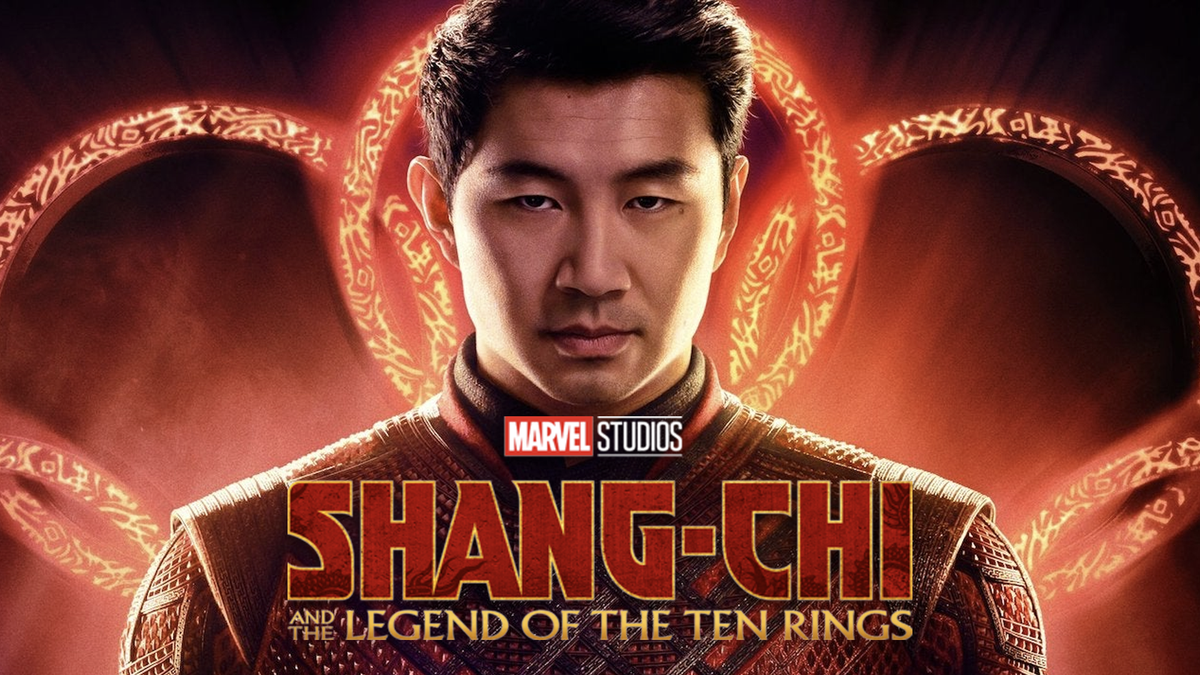 A banner for 'Shang-Chi and the Legend of the Tend Rings'