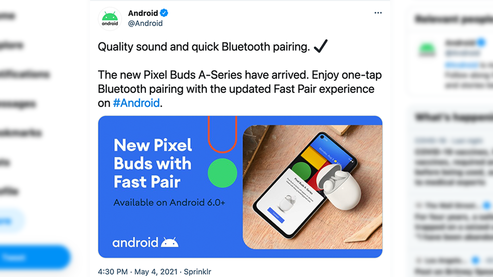 <p>Google Accidentally Announced the Pixel Buds A-Series on Twitter thumbnail