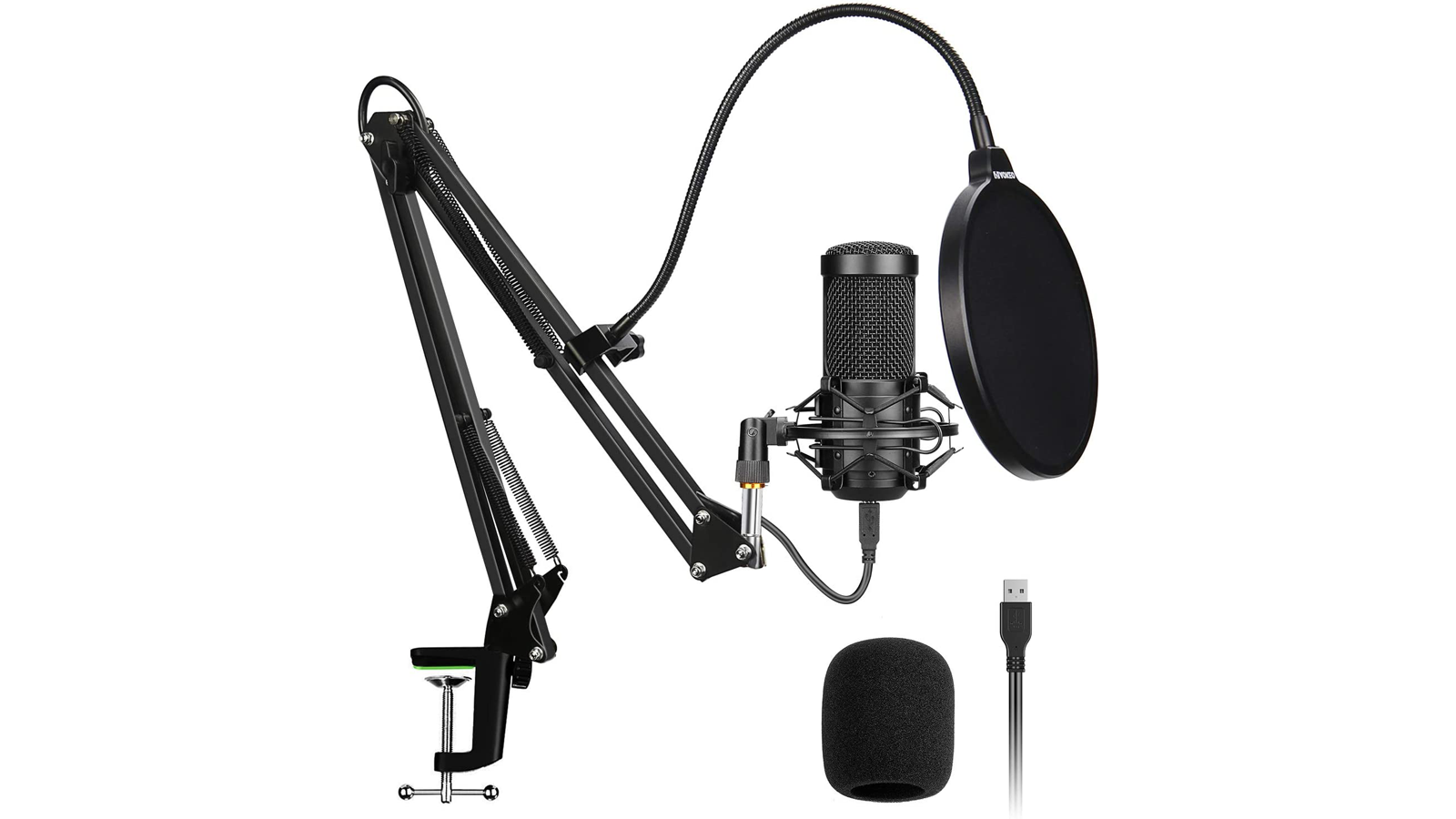 This Cardioid USB Microphone Kit is a Good Beginner Office Upgrade