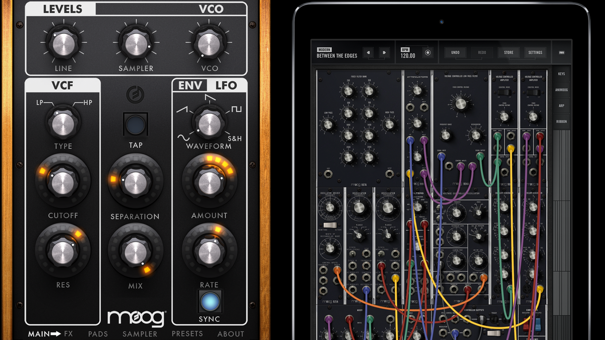 The Filtatron and Model 15 apps from Moog