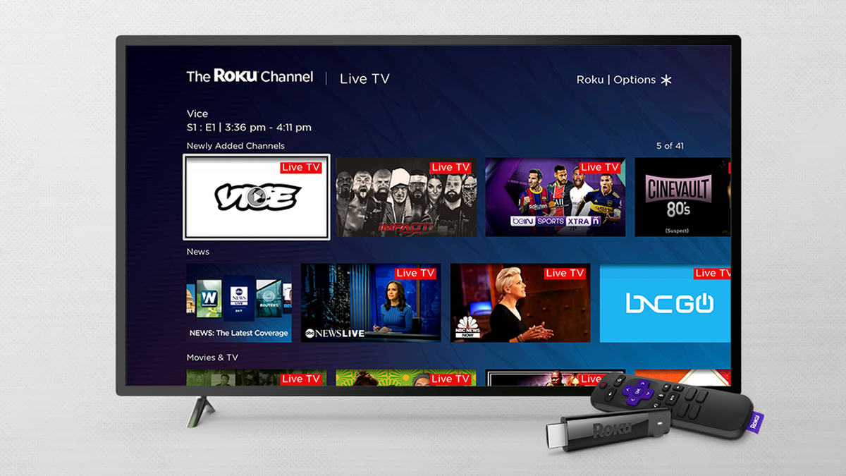 The Roku Channel with new channels