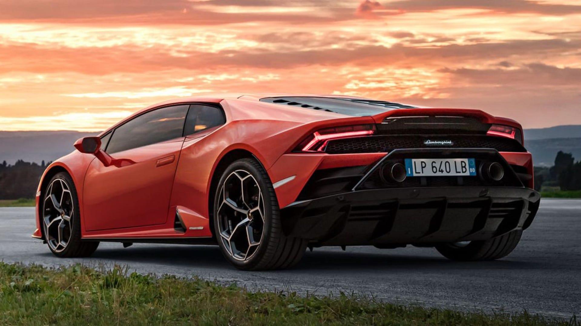 Orange Lamborghini Huracan EVO