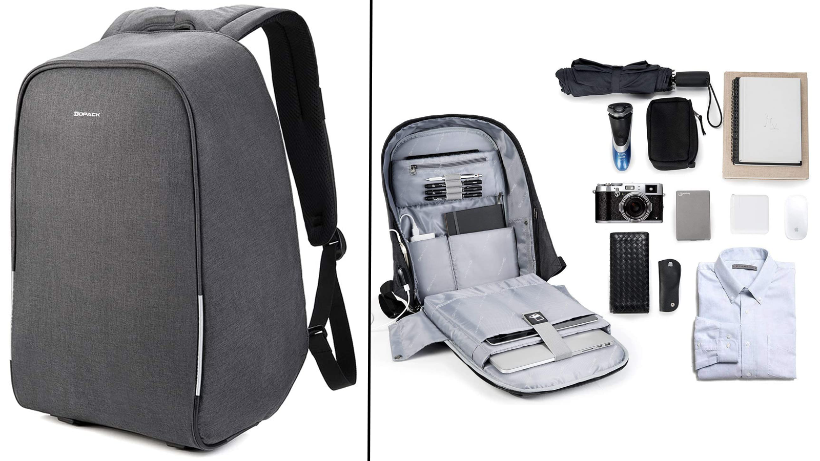 KOPACK Scan Smart Anti-Theft Laptop Backpack