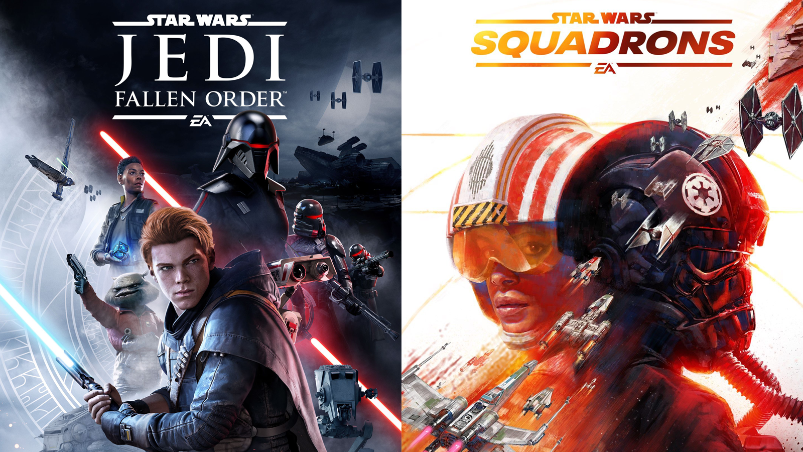Star Wars Jedi: Fallen Order, and Star Wars: Squadrons video game art