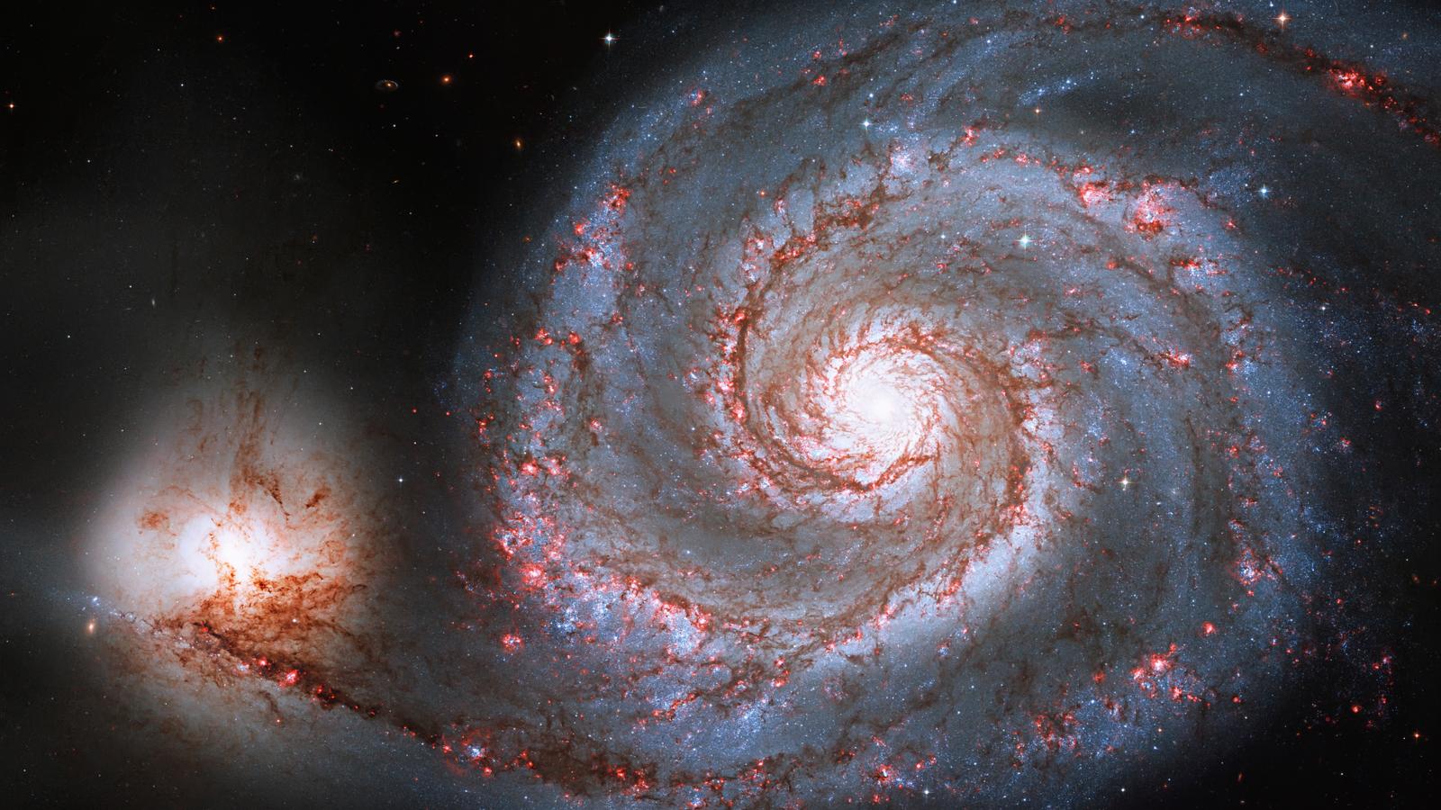 Spiral galaxy M51 or NGC 5194, the Whirlpool Galaxy