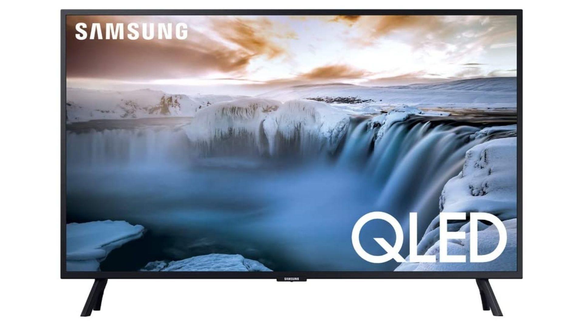 SAMSUNG QN32Q50RAFXZA Flat 32 QLED 4K 32Q50 Series Smart TV (2019 model)