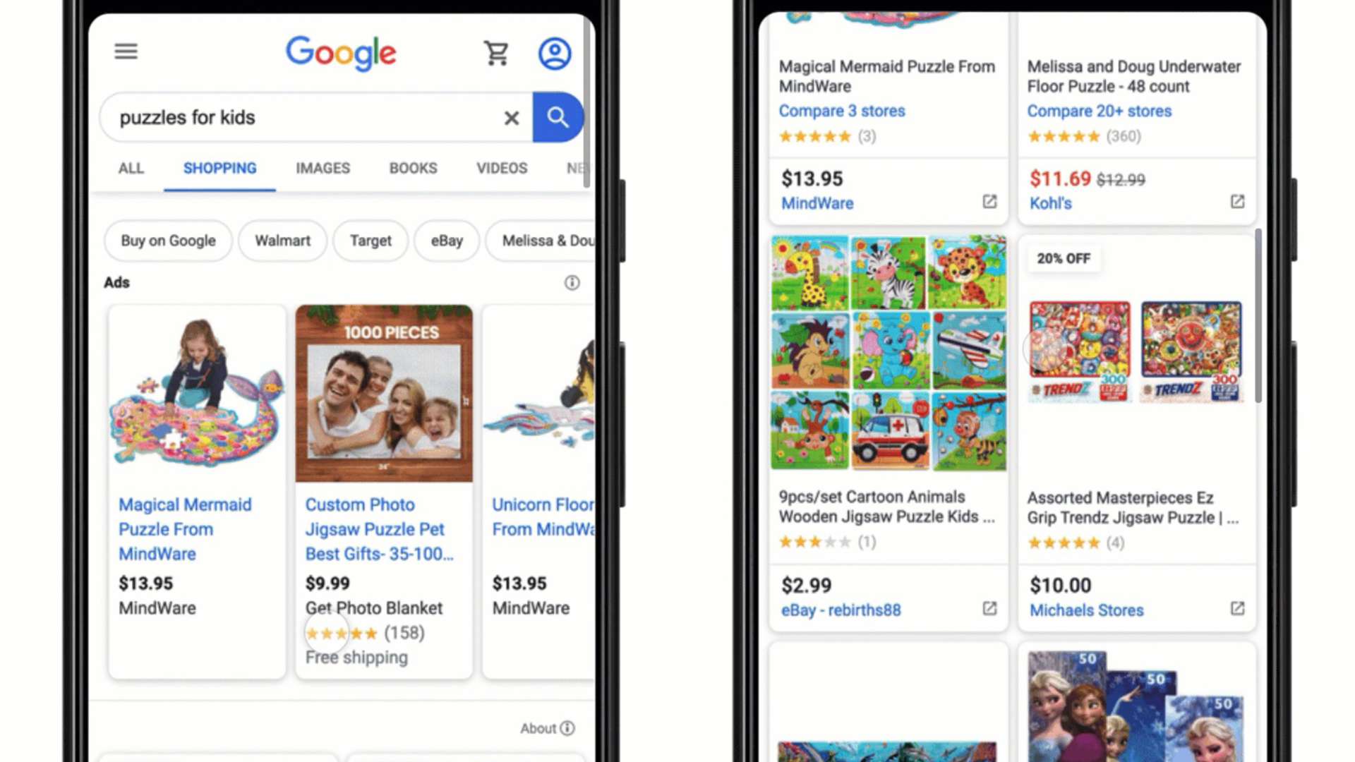 Examples of Google Shopping