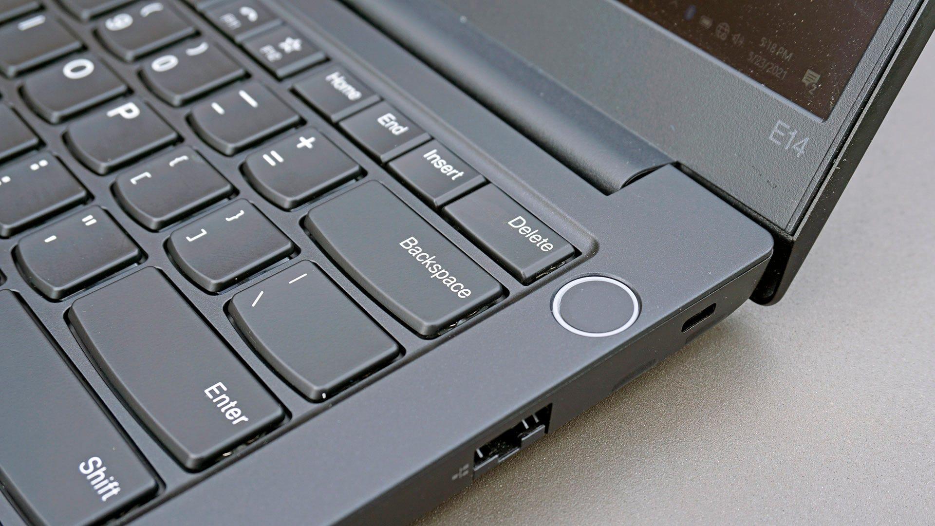 ThinkPad E14 power button