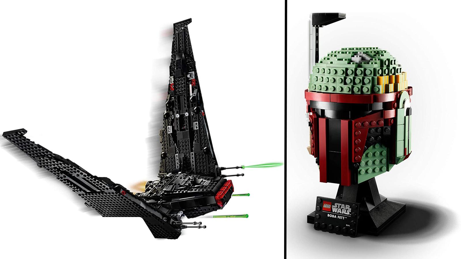 LEGO Kylo Ren's shuttle, Boba Fett helmet