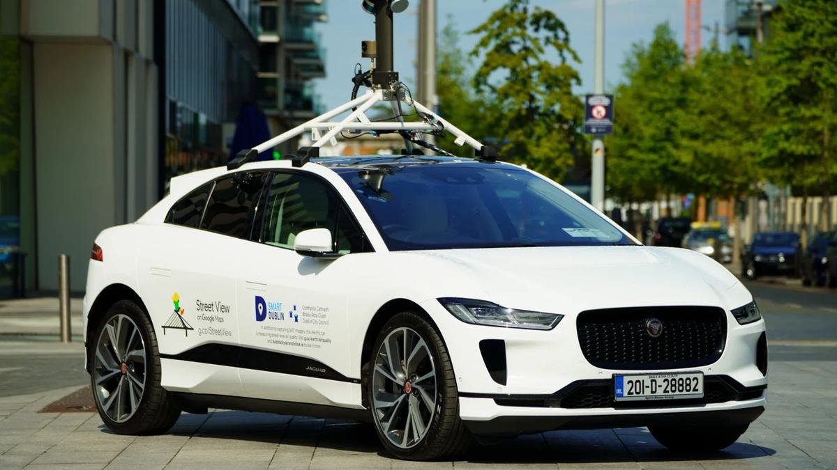 Google Street View Jaguar EV