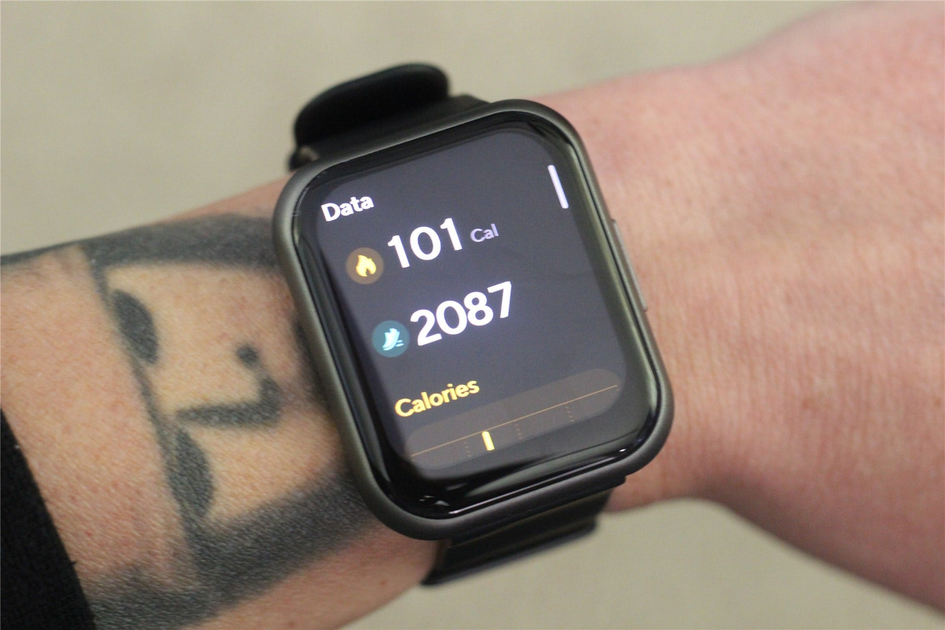 The activity panel on the Watch 47
