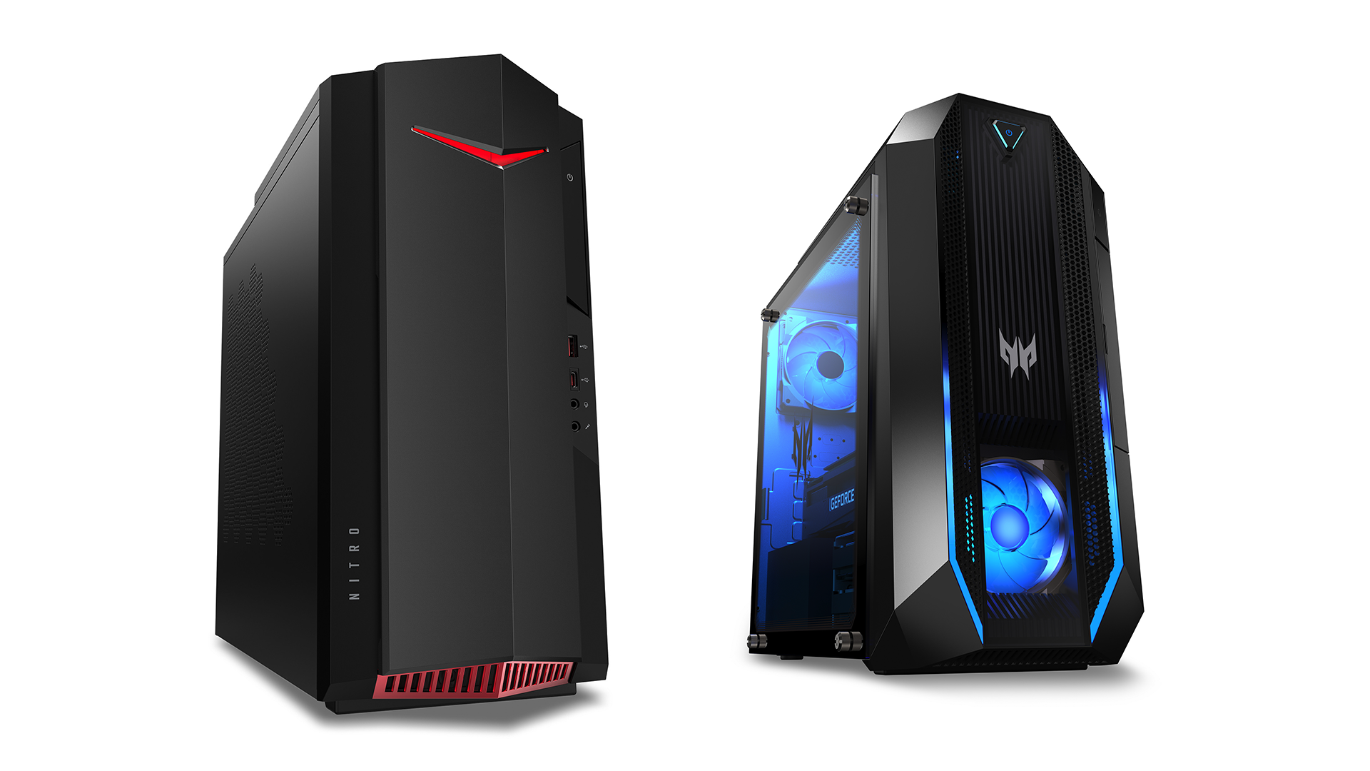 The Predator Orion 3000 and Nitro 50 Gaming Desktops