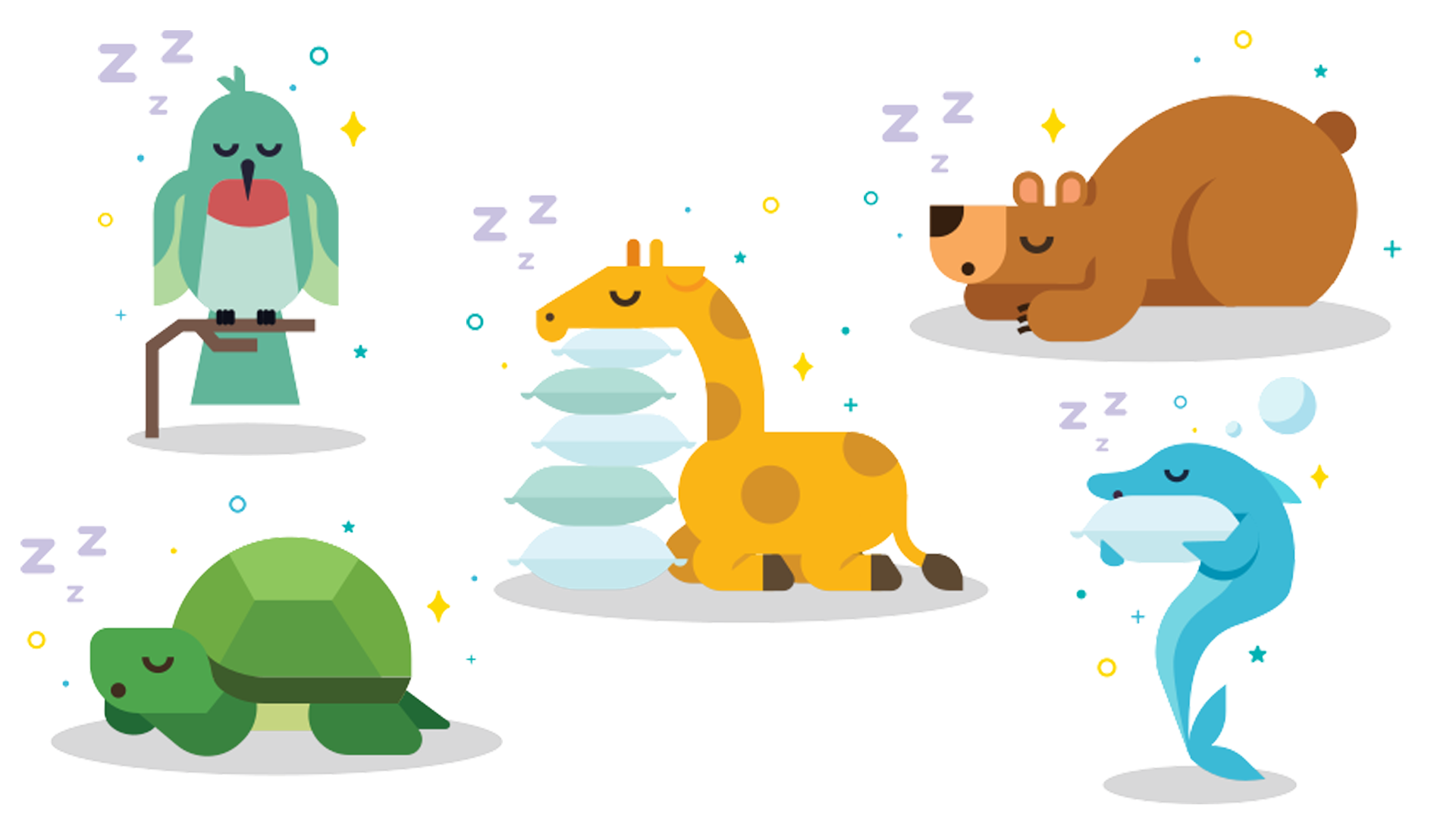 """Icons used for Fitbit's """"Your Spirit Animal"""" feature."""