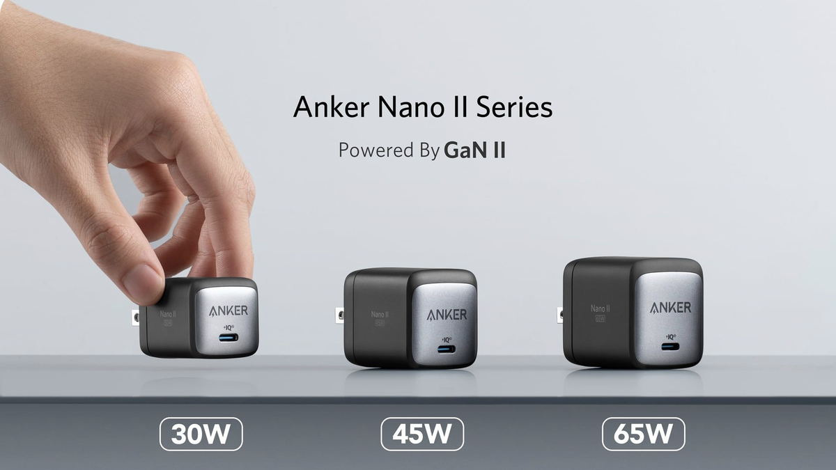 The Nano II charger in three form factors.
