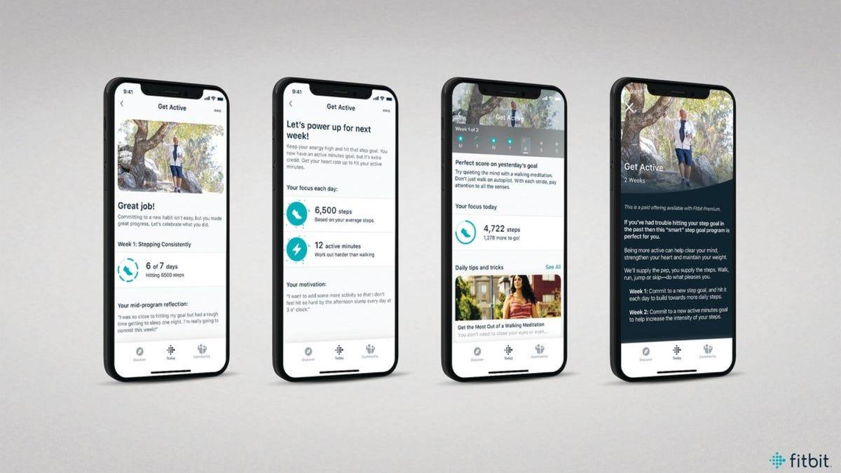 Fitbit app options
