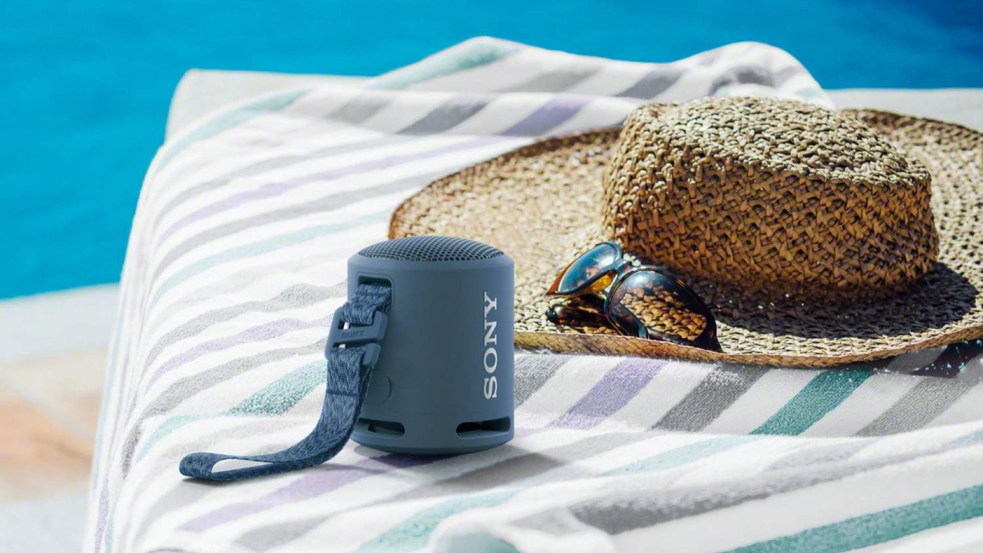 Sony's small XB13 speaker oudoors