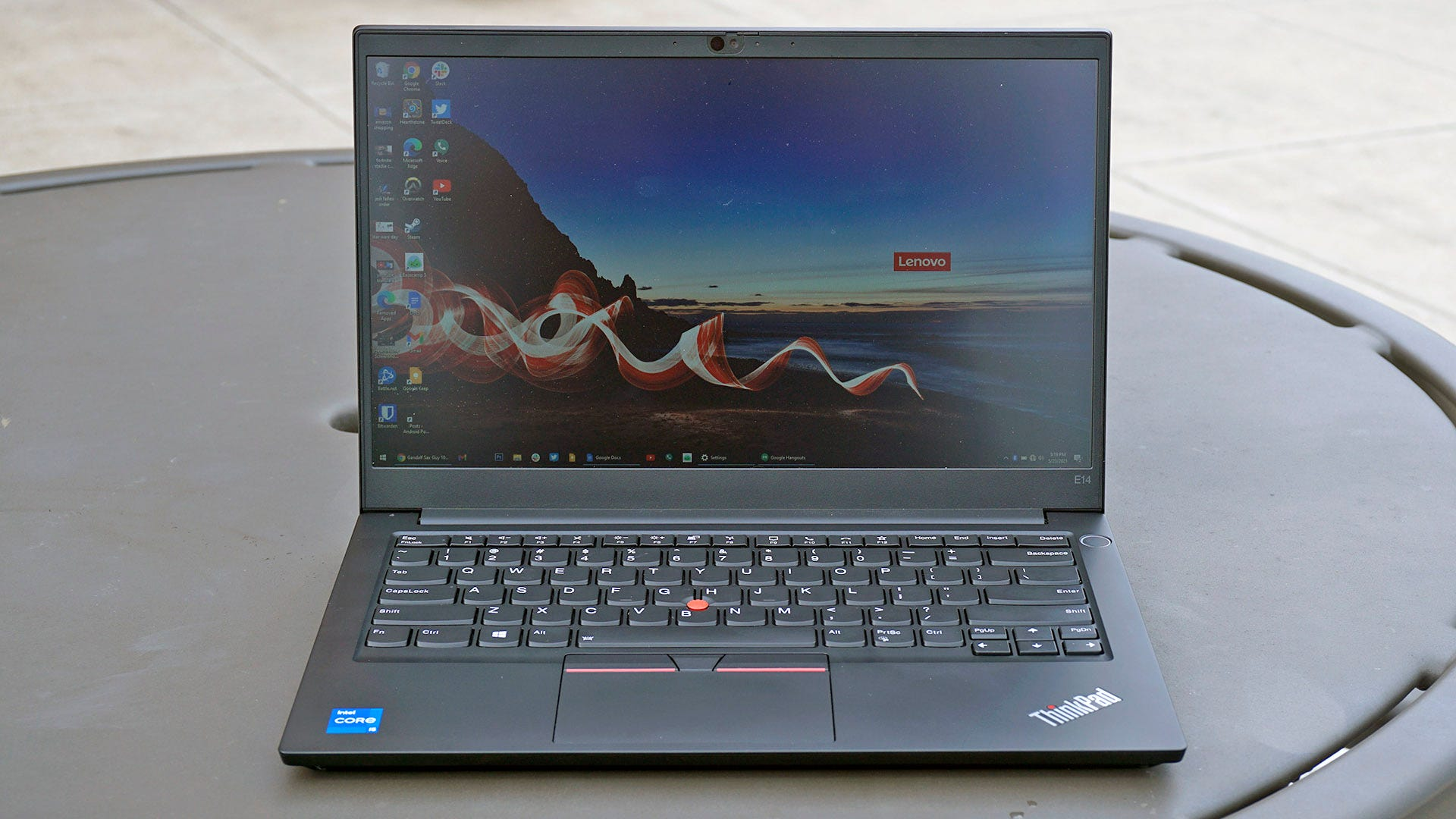 ThinkPad E14 from the front