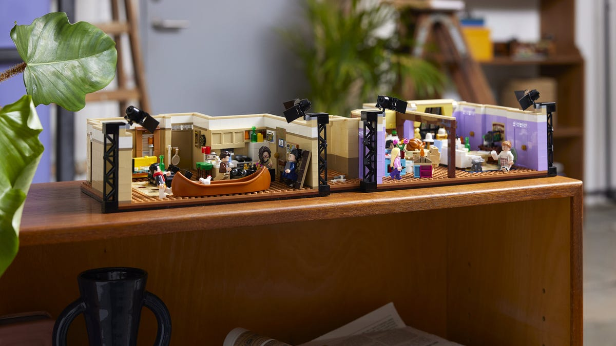 The LEGO 'Friends' Apartment set on a table