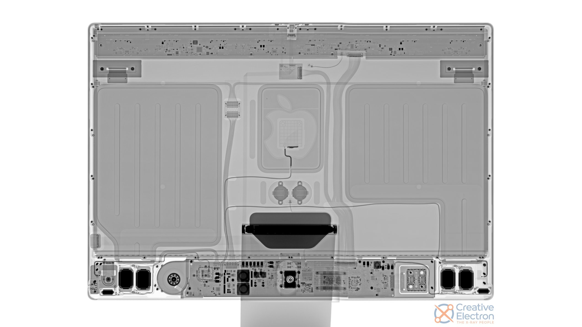 An x-ray of the M1 iMac.