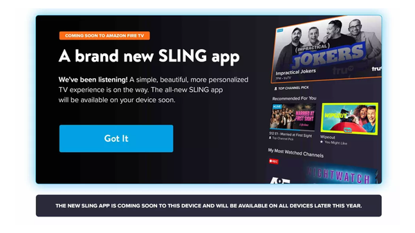 [Update: Beta Out Now] A Long-Awaited Sling TV Redesign Debuts on Fire TV Devices