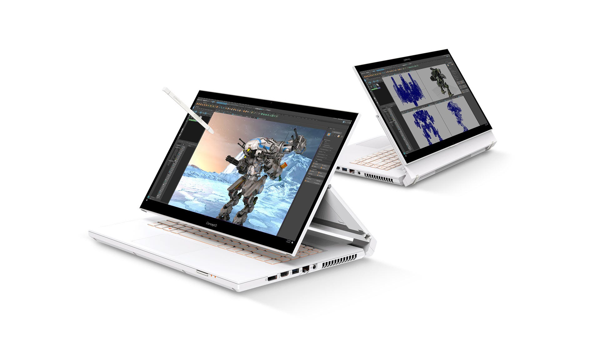 A laptop with a screen that almost floats on a hinge.