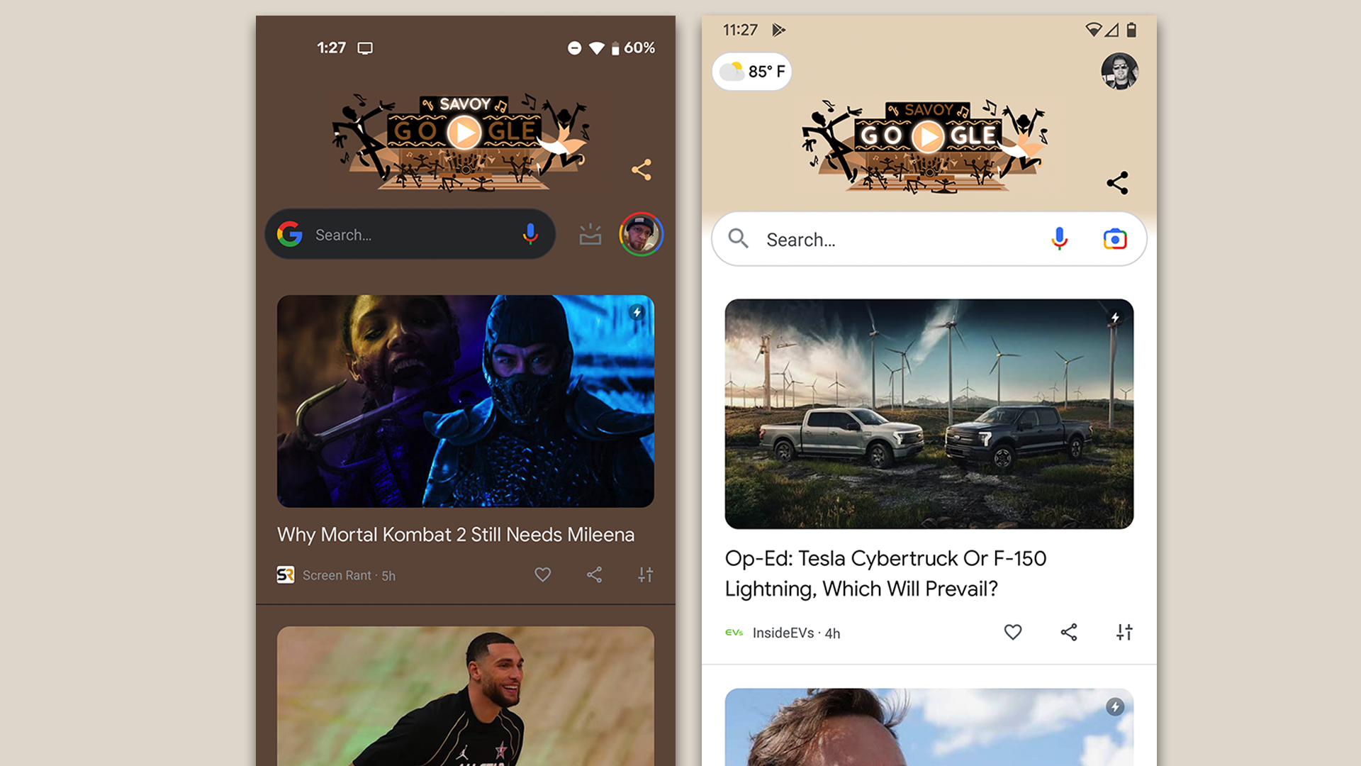 <p>Google Discover Gets Colorful In Android 12 thumbnail