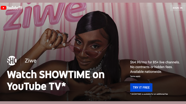 YouTube TV Customers Can Watch Showtime for Free Through May 16th