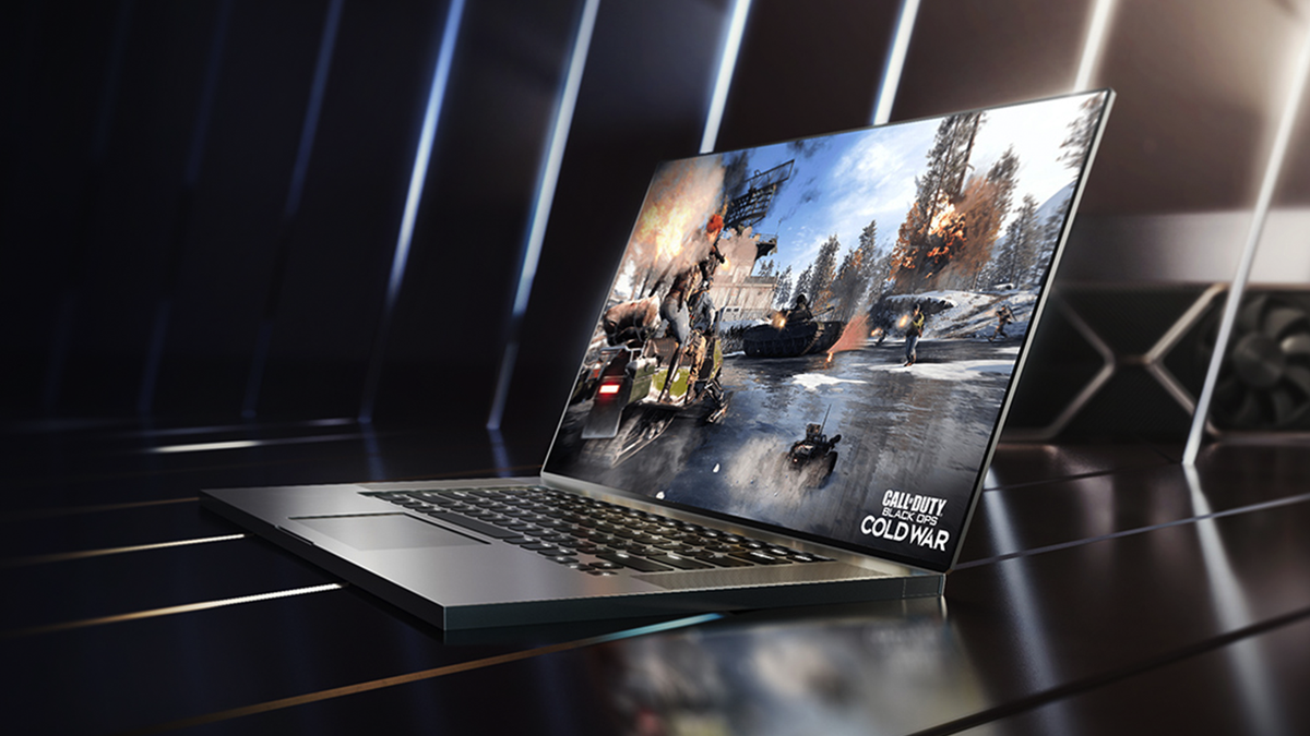 A gaming laptop running the NVIDIA GeForce RTX 3050i.