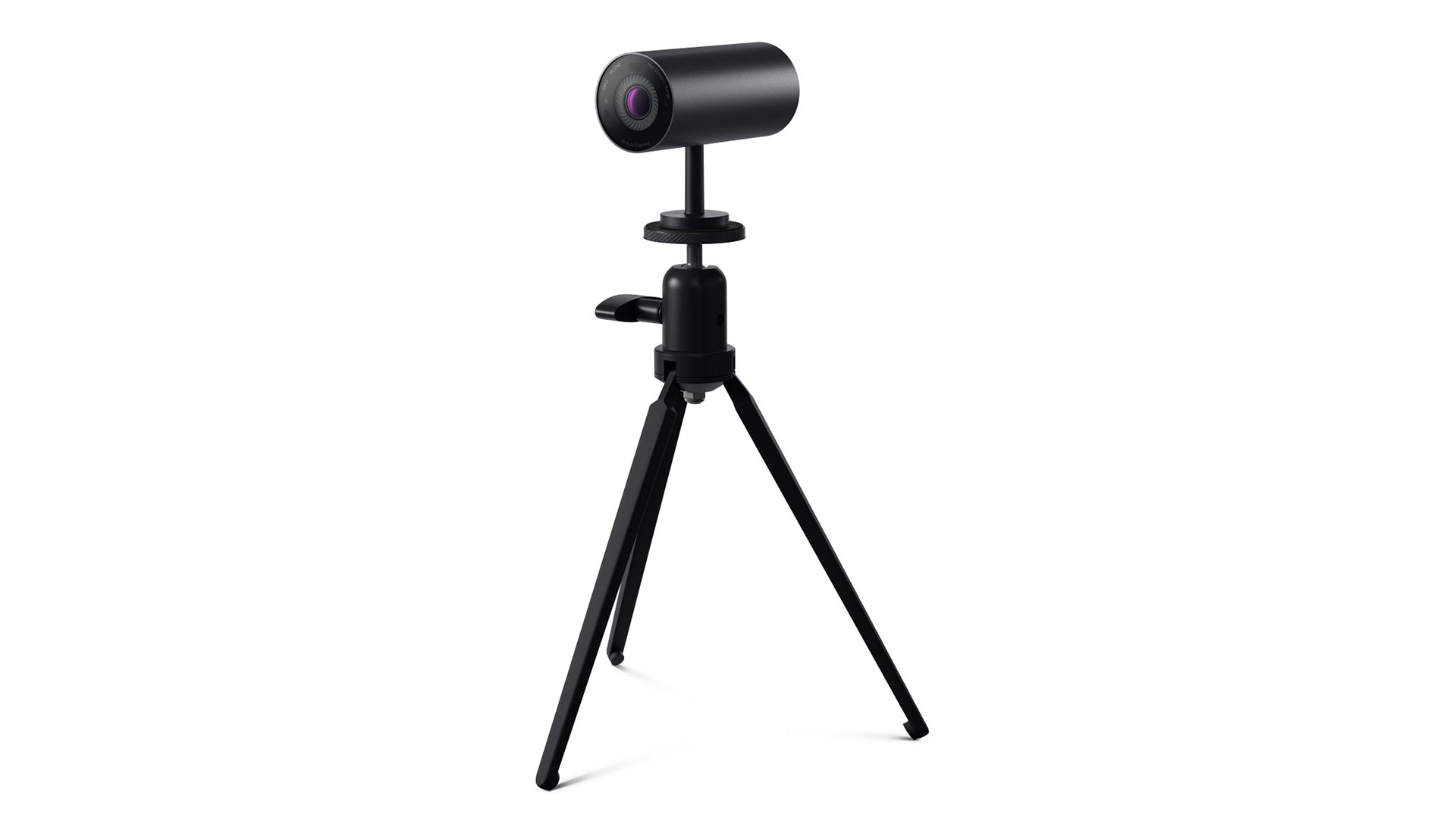The Dell Ultrasharp Webcam on a tripod.