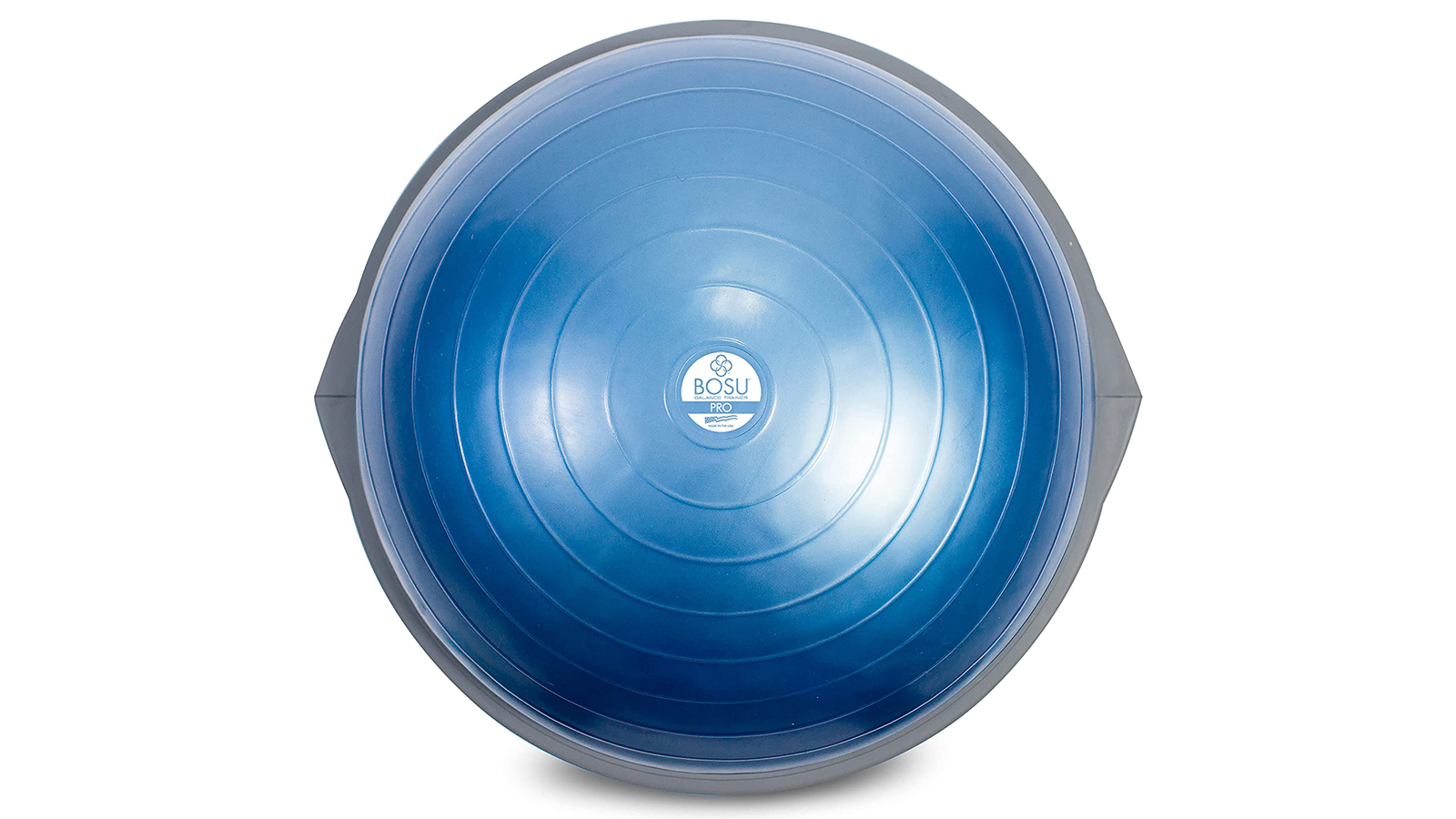 Top-down view of Bosu balance ball