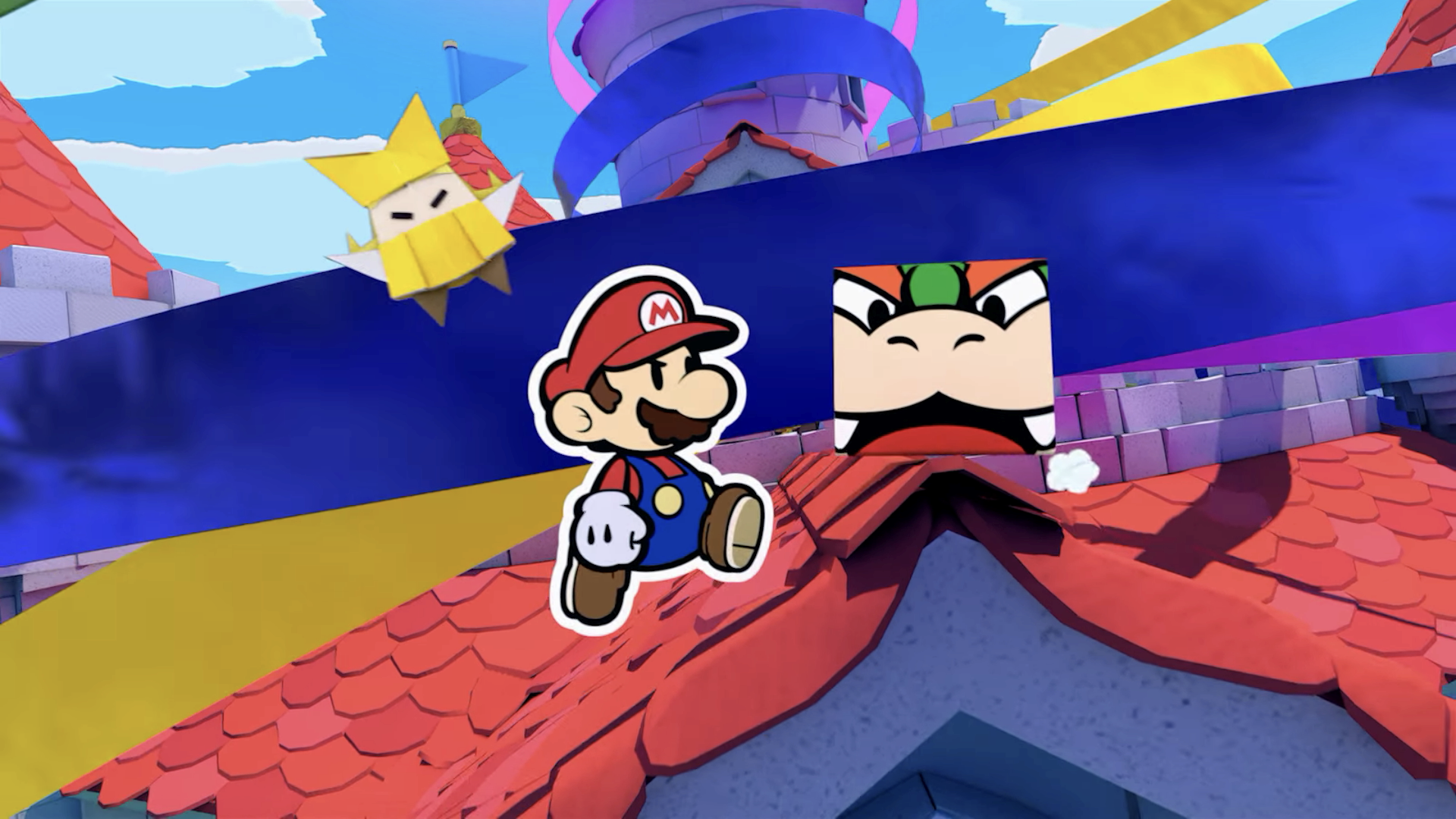 A screencap of Paper Mario on the Switch.