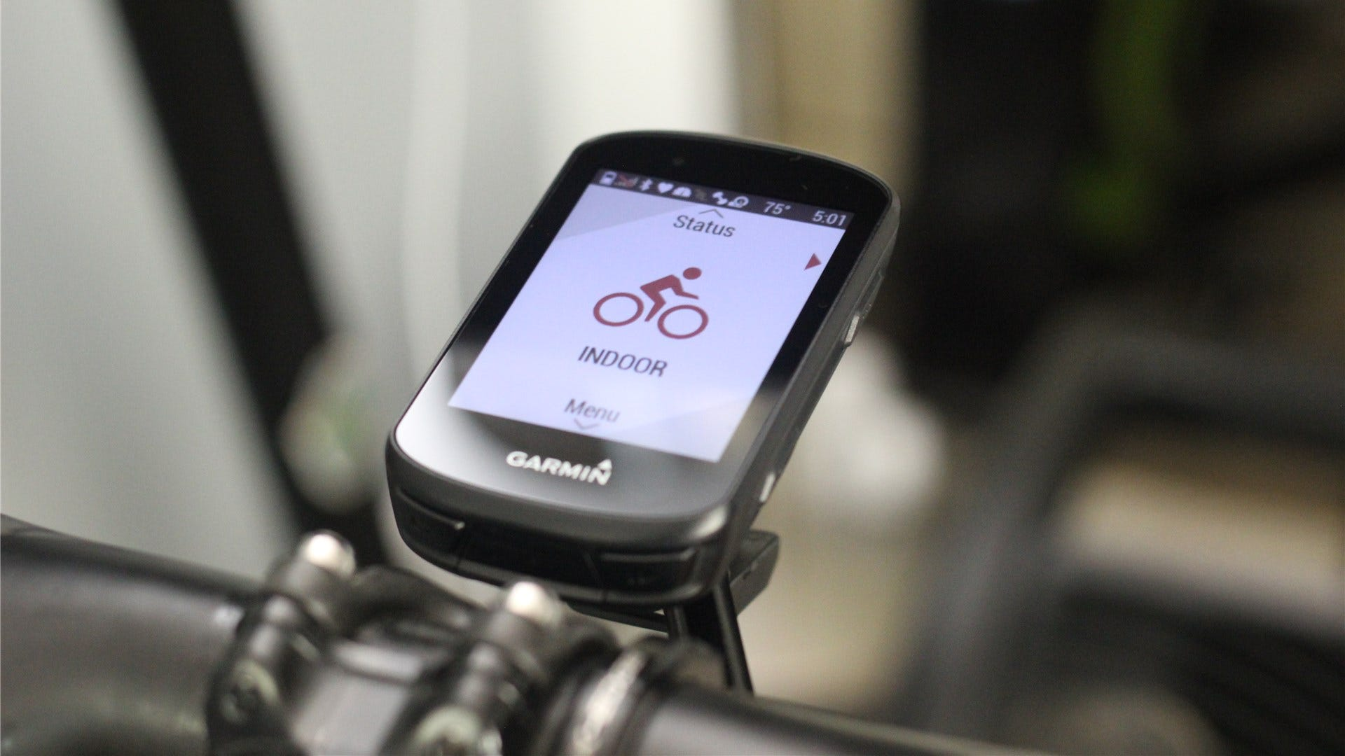 The Garmin Edge 530 on an out-front bike mount