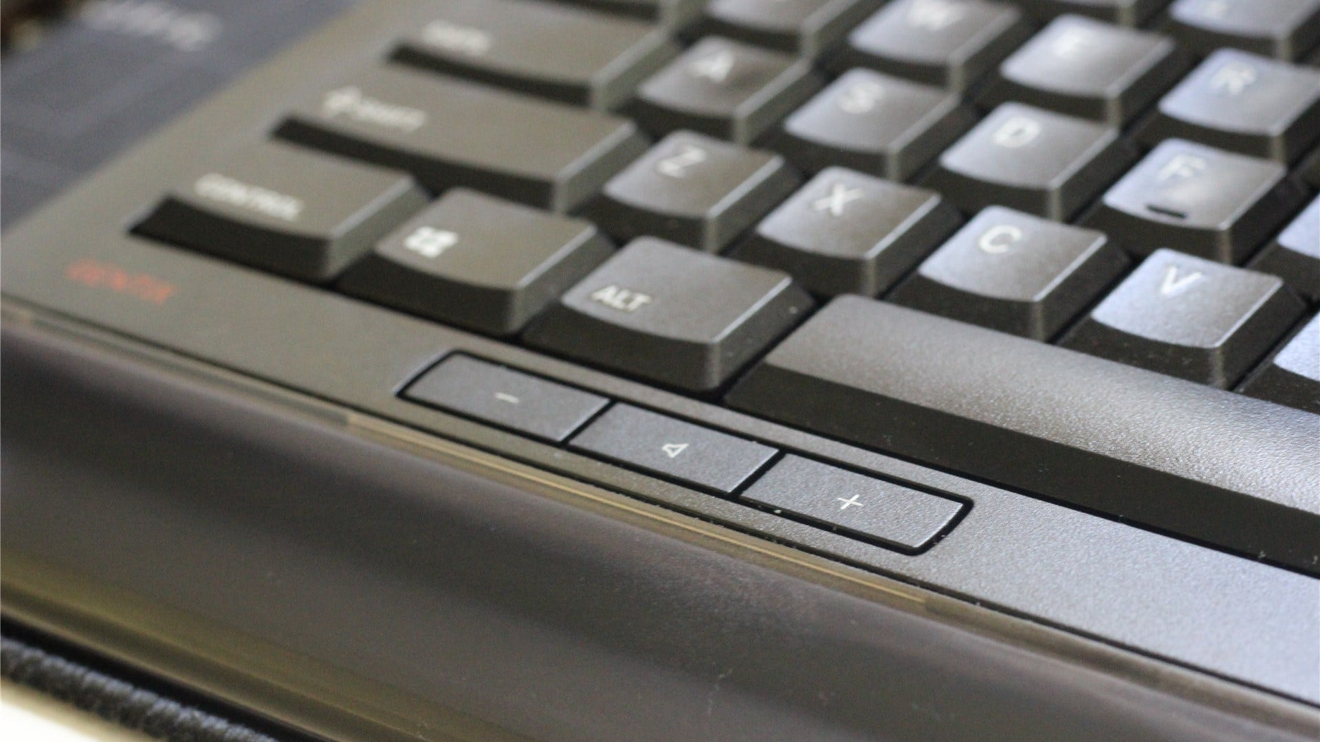 The volume control buttons on the Gentix keyboard
