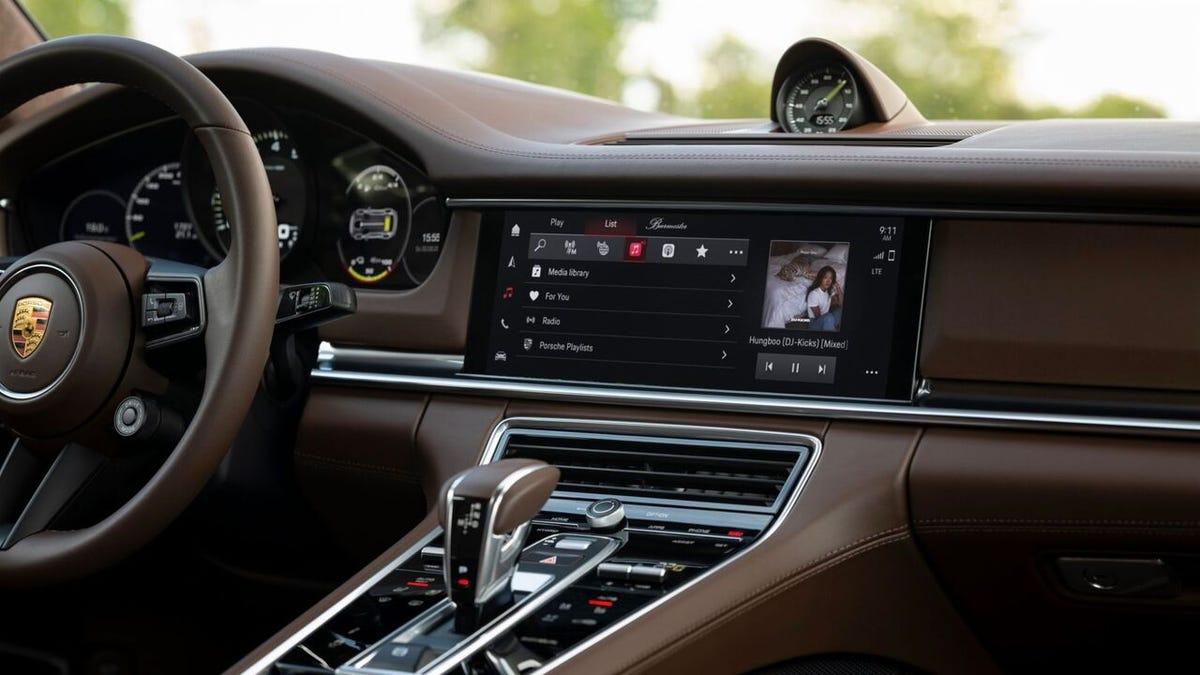 The Porsche infotainment system