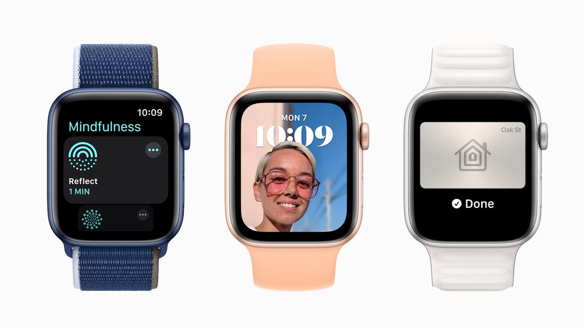 Apple Watches running watchOS 8.