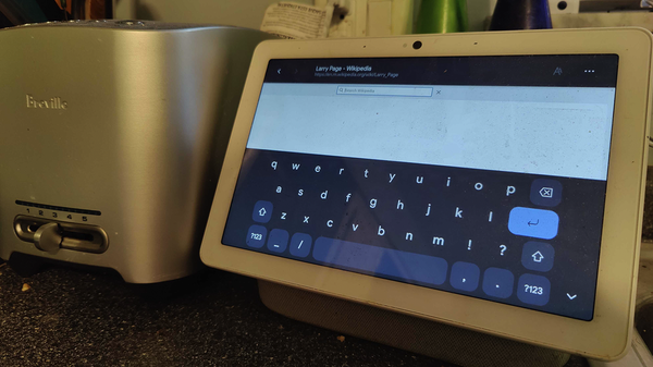 Nest Hub's Browser Gets an On-Screen Keyboard in Latest Update