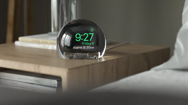 This Orb Turns Your Apple Watch into an Awesome Nightstand Clock